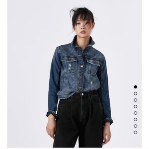 Denim Fitted jacket Size XS NWT